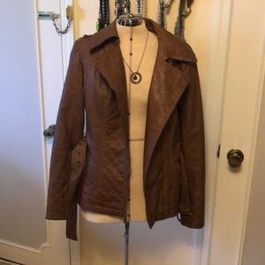 Faux leather guess jacket